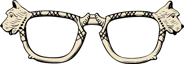 free vector Dog Glasses clip art