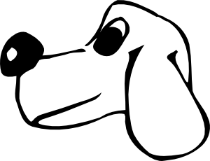 free vector Dog Head clip art