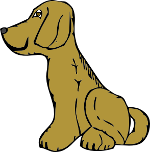 free vector Dog Side View clip art