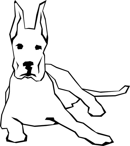 Dog Simple Drawing clip art Free Vector / 4Vector