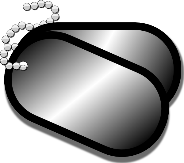 free vector Dog Tags clip art