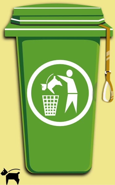 free vector Dog Trash Can clip art