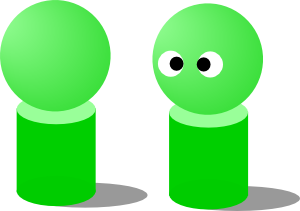 free vector Dolls Green clip art