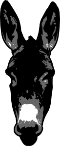 free vector Donkey Head clip art