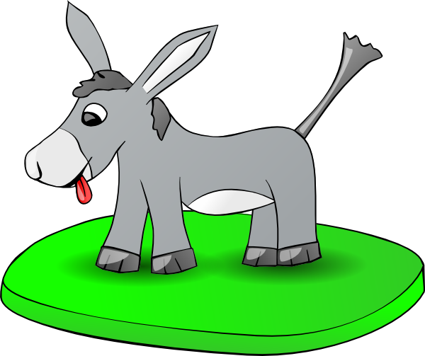 free vector Donkey On A Plate clip art