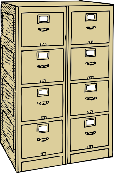 ... Free Vector Double Drawer File Cabinet Clip Art