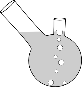 free vector Double Neck Boiling Flask clip art