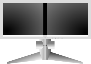 free vector Doublesight Dual Monitor clip art