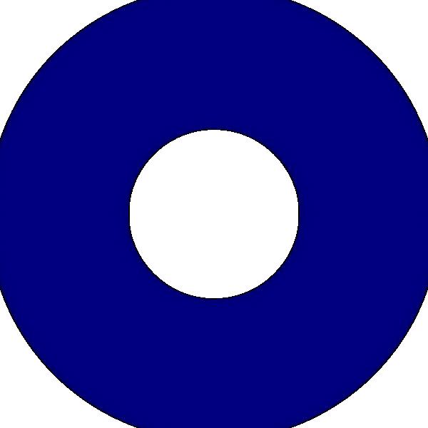 free vector Doughnut Blue Symbol clip art