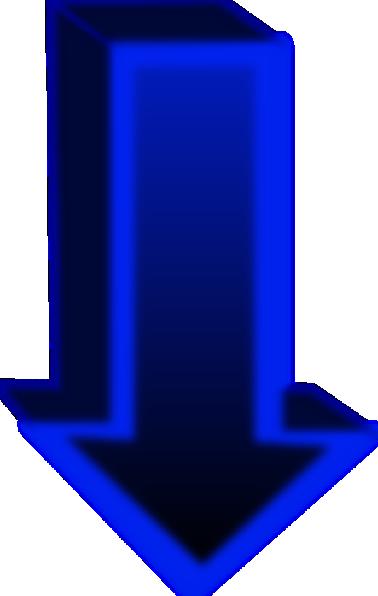 Down Blue Arrow clip art Free Vector / 4Vector