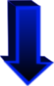 free vector Down Blue Arrow clip art
