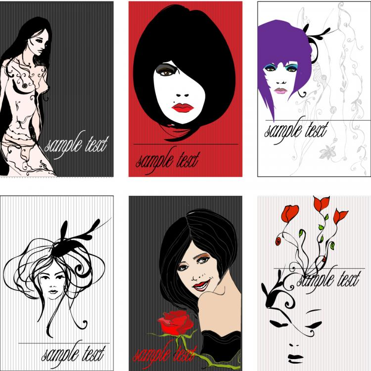 free vector Draft beauty trend line vector