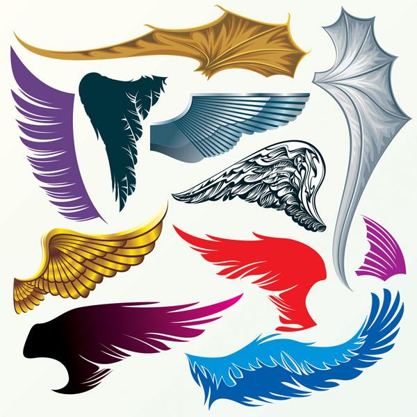 free vector Dragon amp wings vector