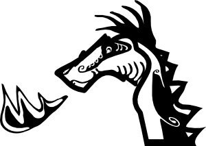 free vector Dragon Head clip art