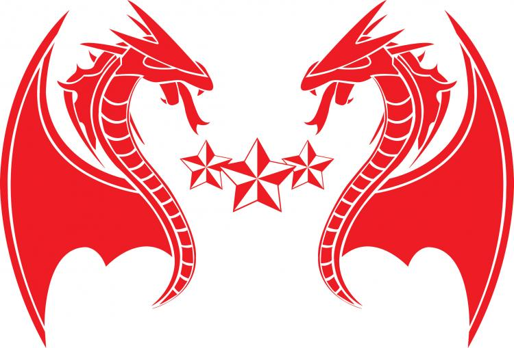 free vector Dragon Red