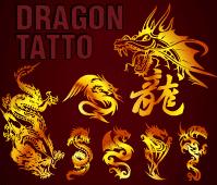 free vector Dragon Tattoo