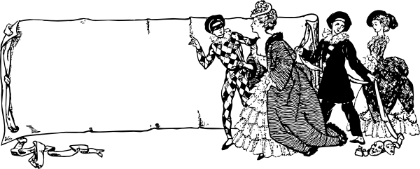 free vector Drama Scroll clip art