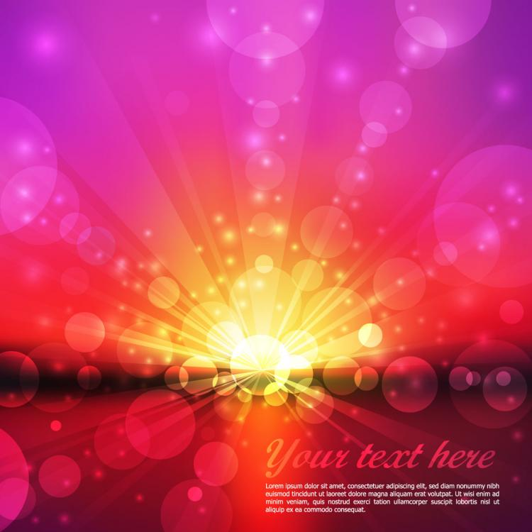 free vector Dream dynamic background vector