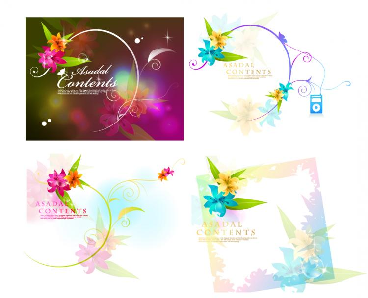 free vector Dream Flower Vector-1