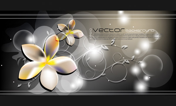 free vector Dream flowers and beautiful vector background