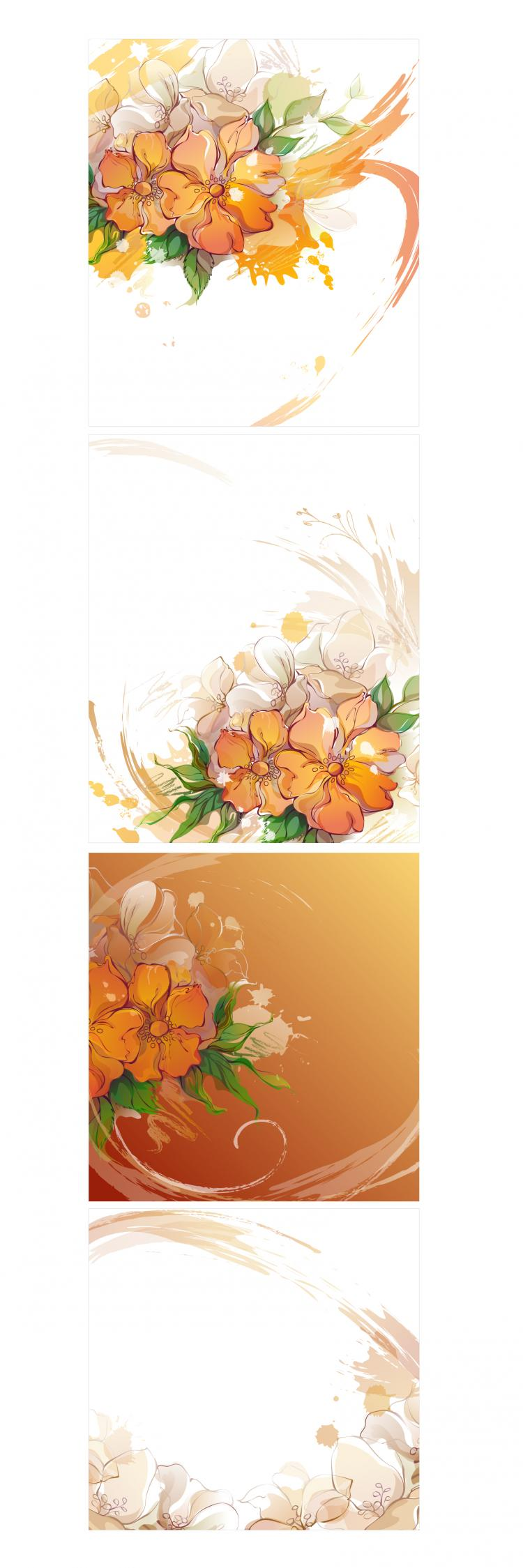 free vector Dream flowers vector 10