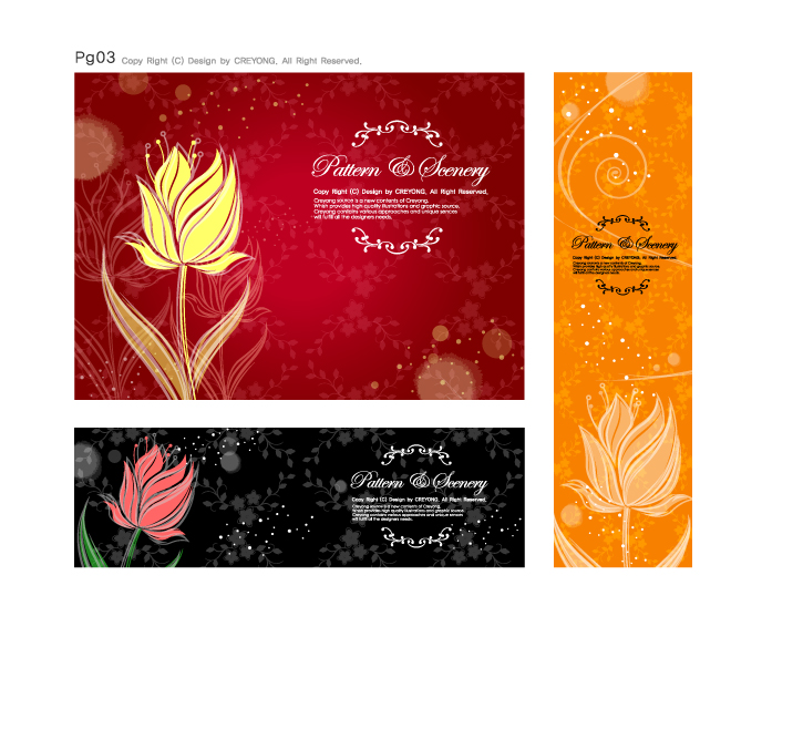 free vector Dream flowers vector 12