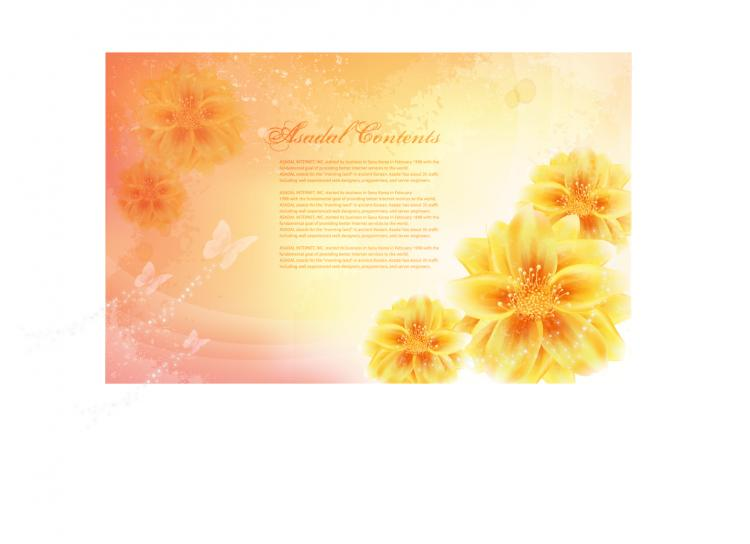 free vector Dream flowers vector 14