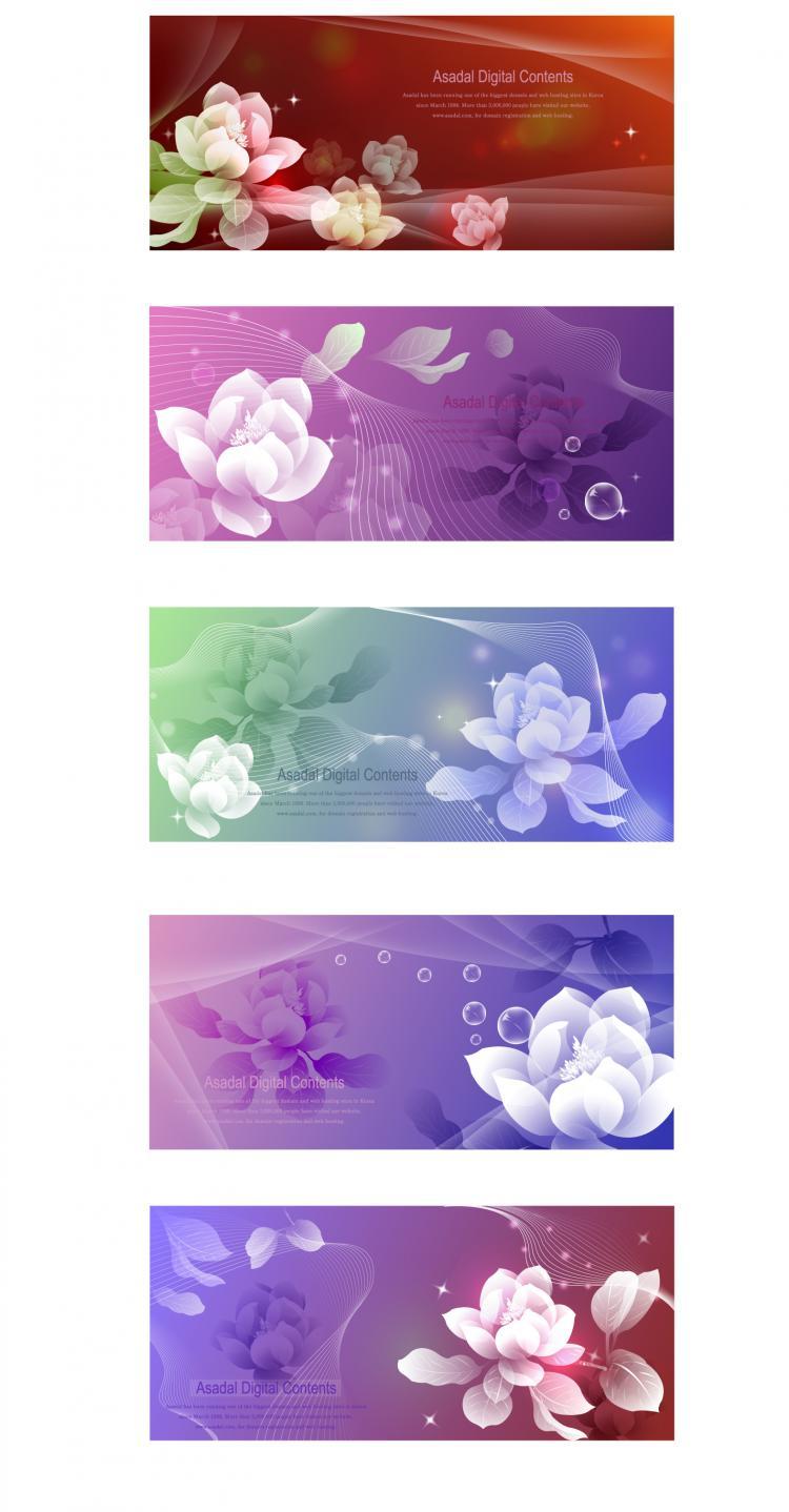 free vector Dream flowers vector 1