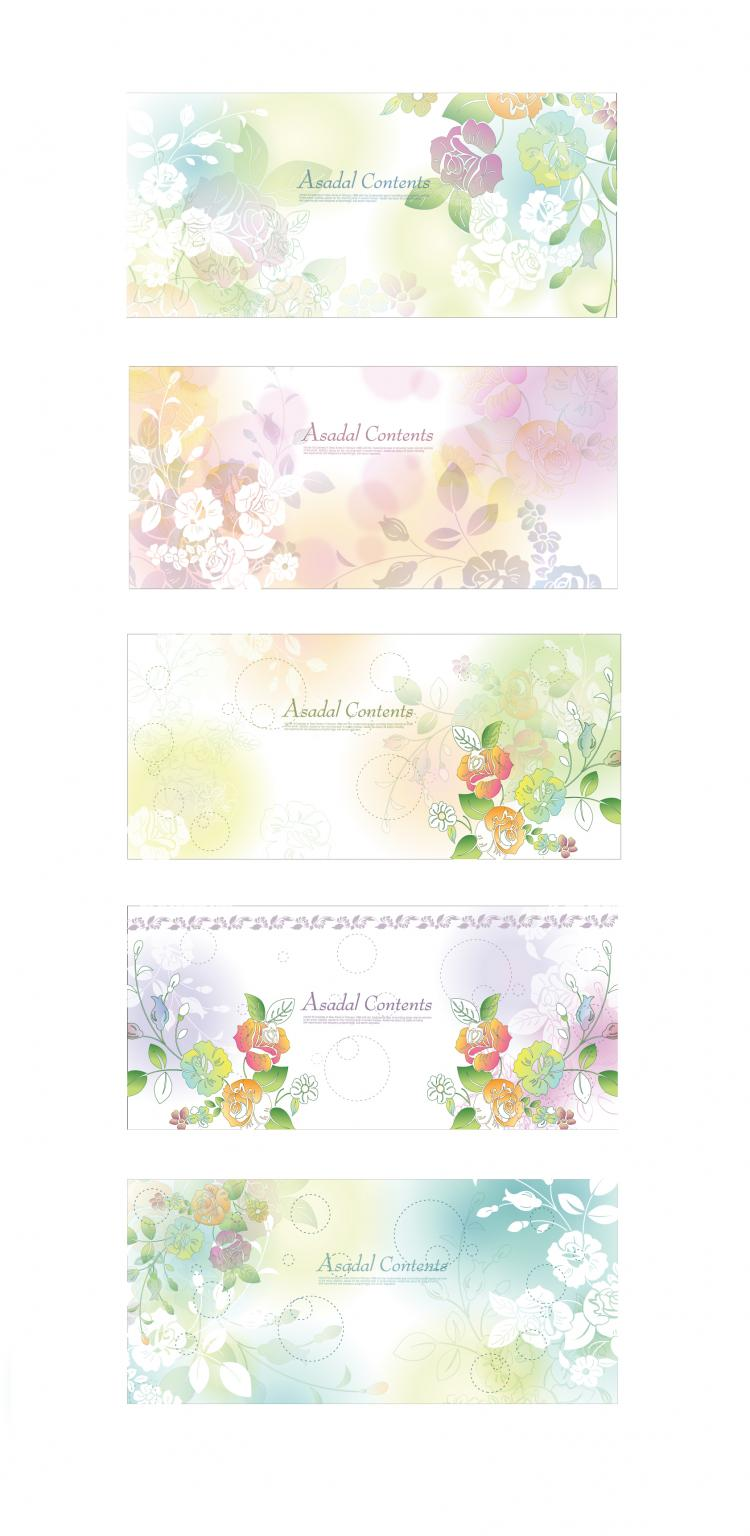 free vector Dream flowers vector 2