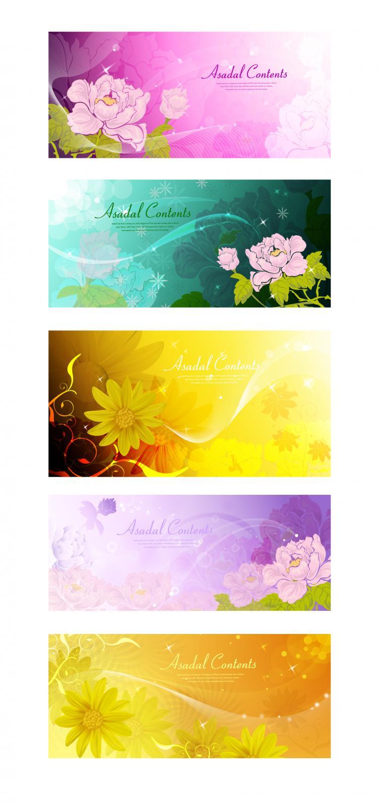 free vector Dream flowers vector 3