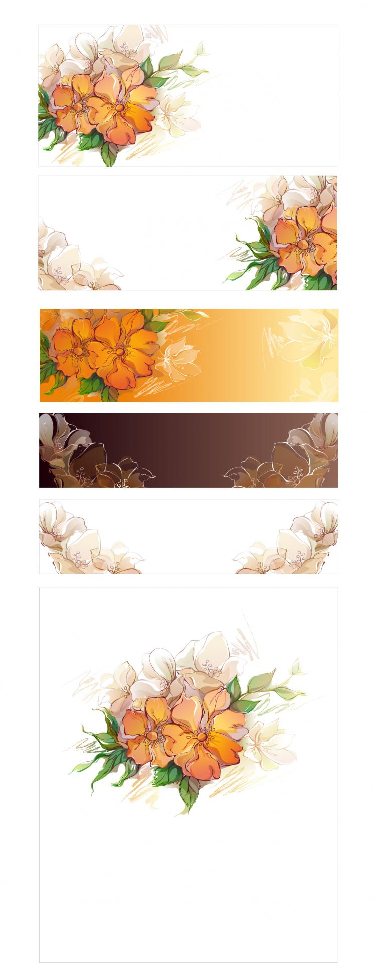 free vector Dream flowers vector 5