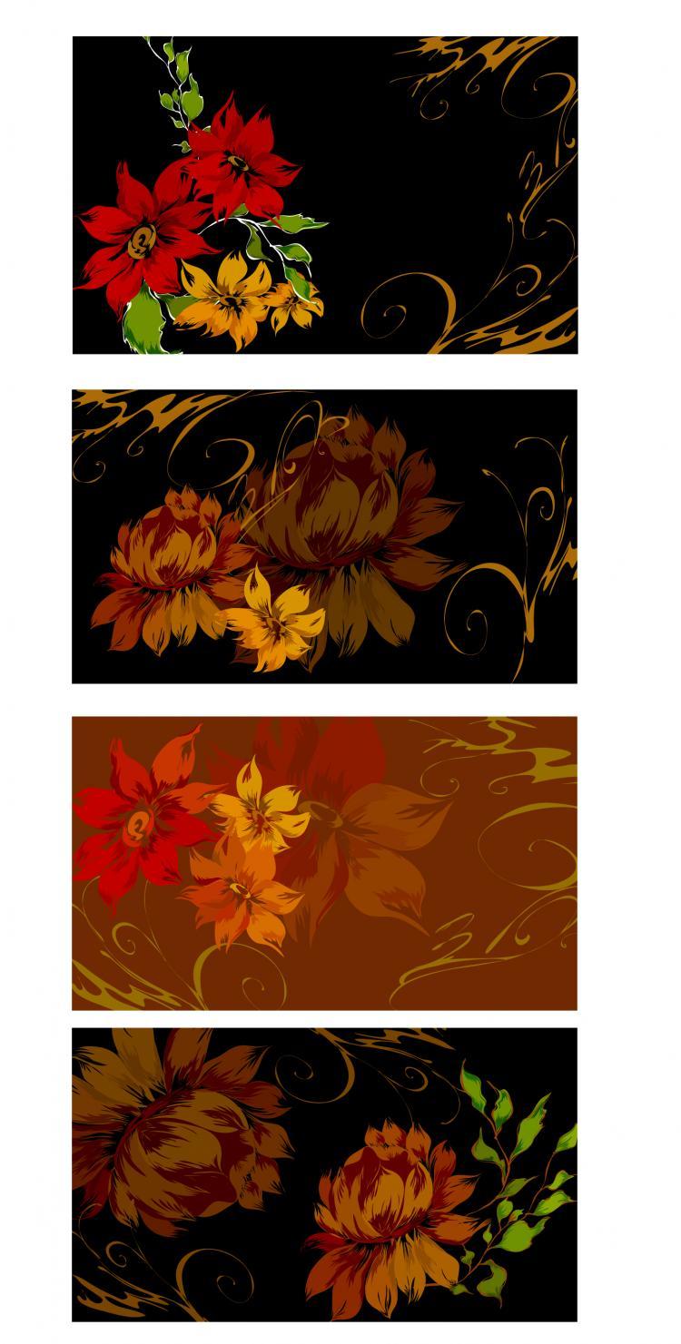 free vector Dream flowers vector 7