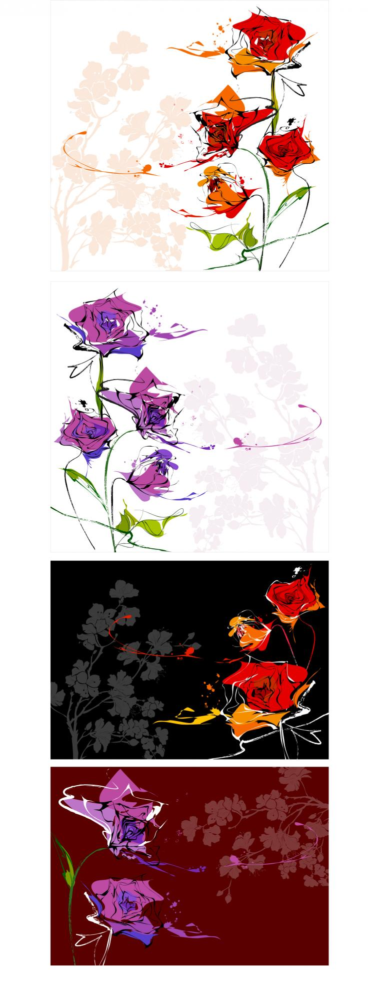 free vector Dream flowers vector 8