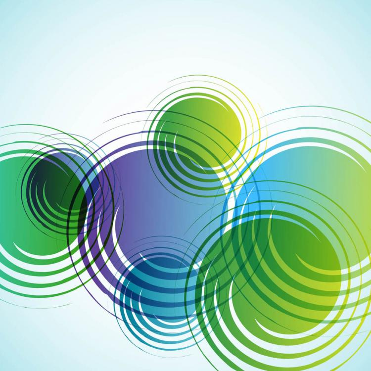 free vector Dream green abstract background 05 vector