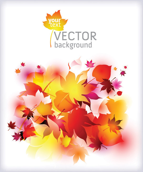 free vector Dream of autumn leaves vector