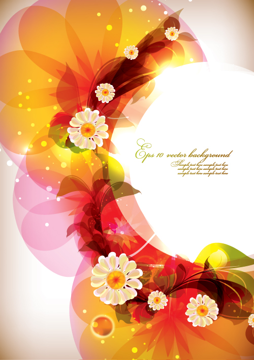 free vector Dream of flowers vector background 1