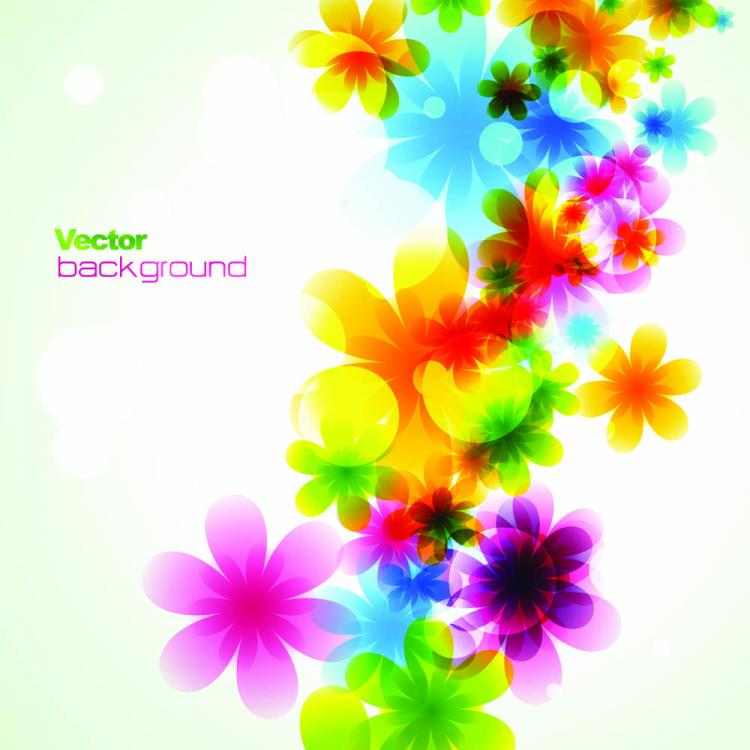 dream spring flowers background 03 vector free vector 4vector