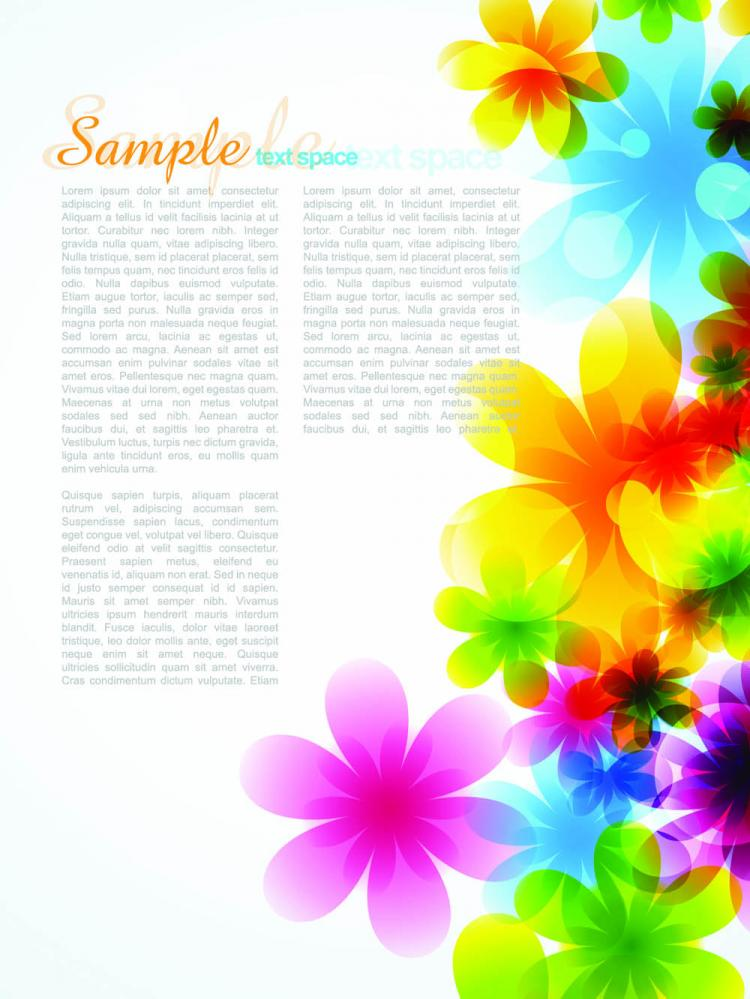 free vector Dream spring flowers background 04 vector