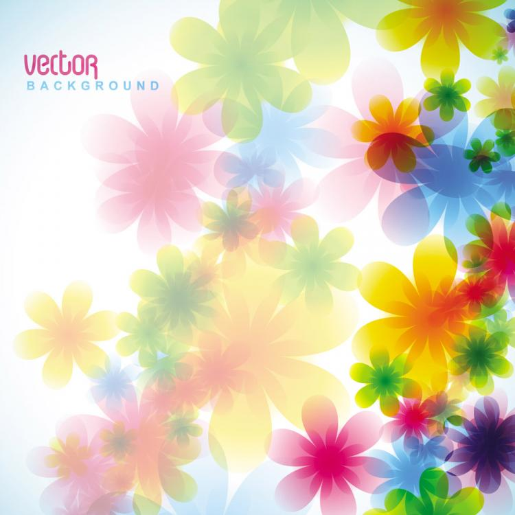 free vector Dream spring flowers background 05 vector