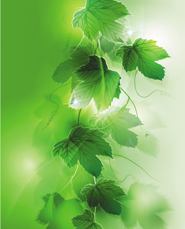 free vector Dream vector background 5 plant