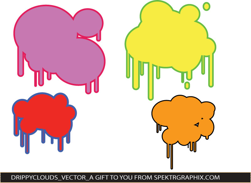 free vector DRIPPY CLOUDS