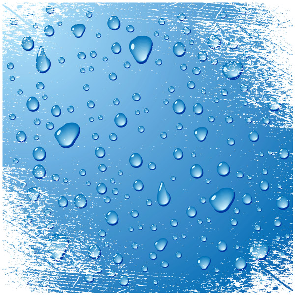 free vector Drops of water droplets theme vector