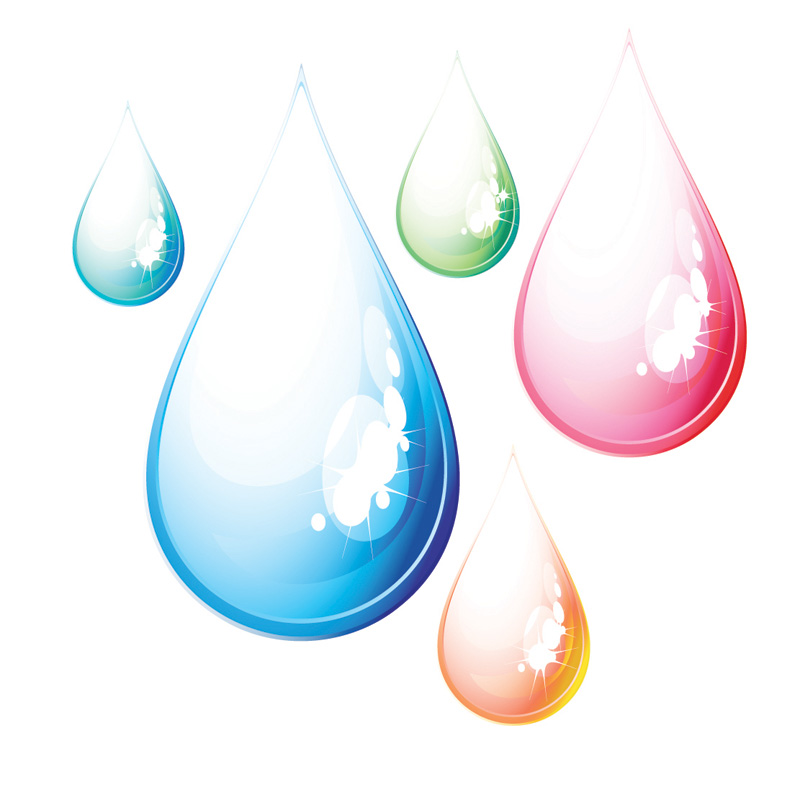 free vector Drops of water droplets vector blisters