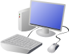 free vector Dtrave Cartoon Computer And Desktop clip art
