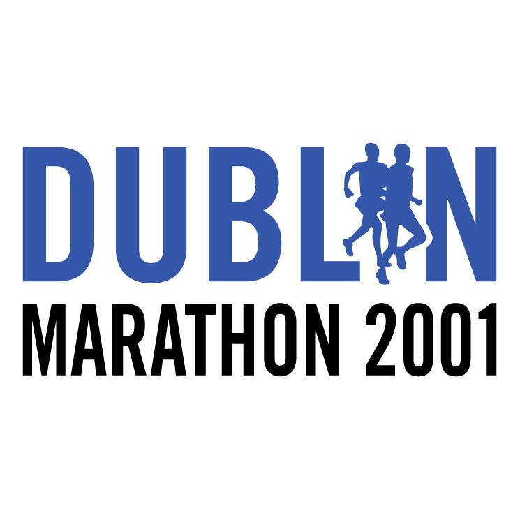 free vector Dublin marathon 2001