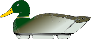 free vector Duck Decoy Side View clip art