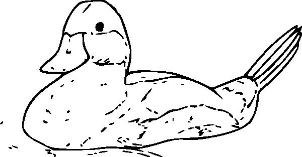 free vector Duck Outline clip art