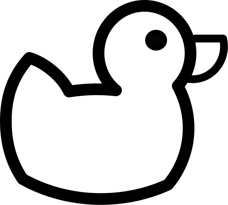 free vector Duck Outline