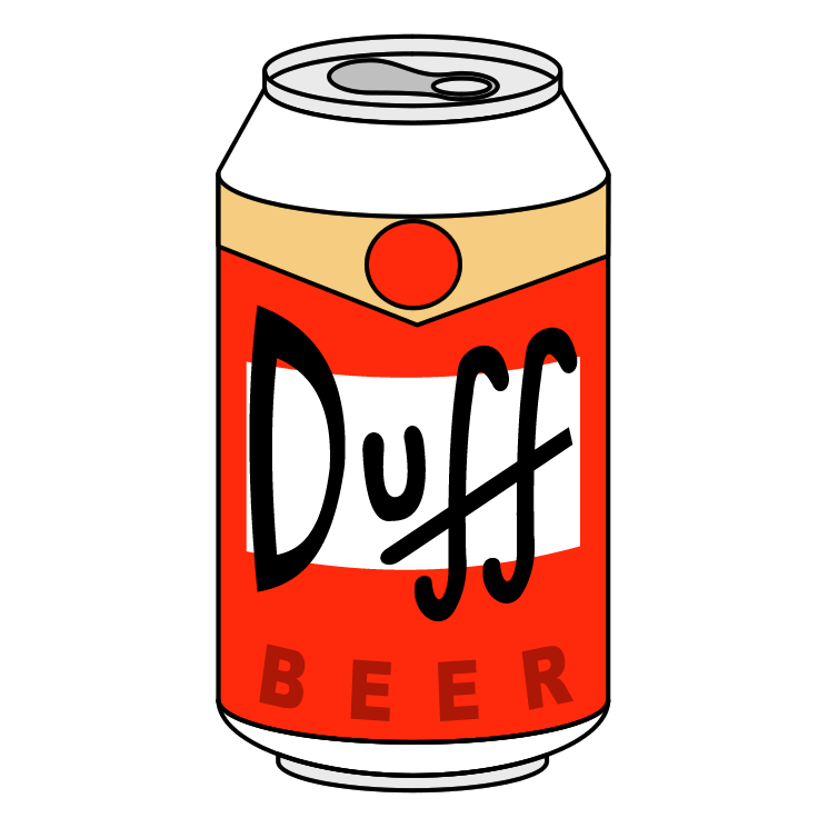 duff beer free vector 4vector rh 4vector com beer can label vector beer can outline vector