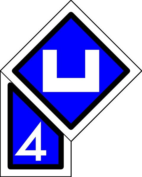 free vector Dutch Railway Sign clip art